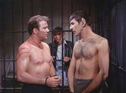"""Captain Kirk and Mr Spock in """"Patterns of Force"""""""