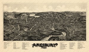 Amesbury in the 1890's, a bird's eye view