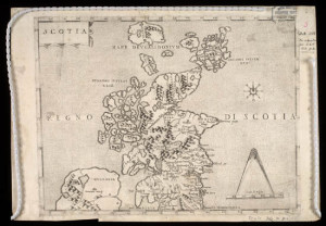 1570 first map of Scotland