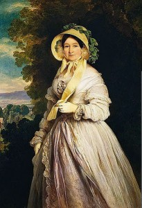 Princess Juliane Henriette Ulrike painted by Winterhalter