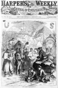 Santa Claus Visits Union Camp 1863
