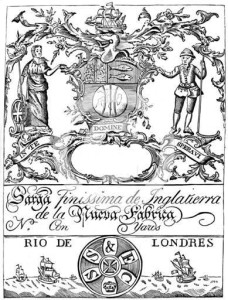 South Sea company trade label