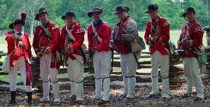 33rd Light Redcoats at Brattonsville