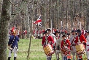 Continentals and Redcoats at Guilford Courthouse